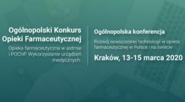 IV Ogólnopolski Konkurs Opieki Farmaceutycznej PTSF